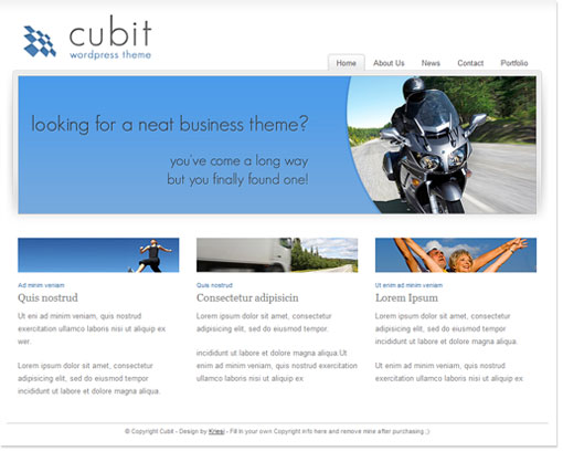 Cubit WordPress Theme