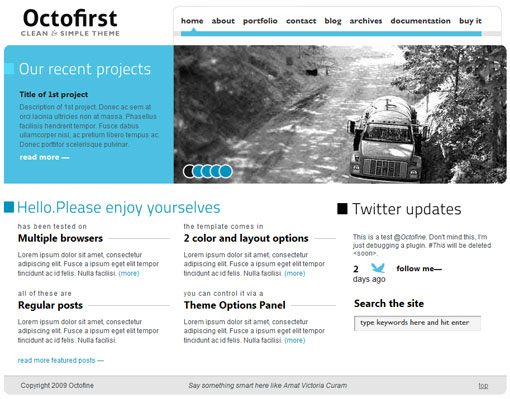Octofirst WP Theme