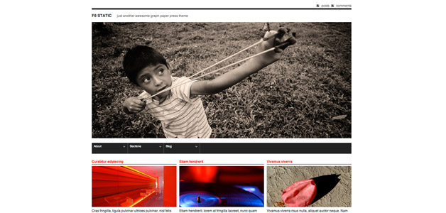 01 F8Static Free WP Photography themes Attached Thumbnails. Free design for amateur ...