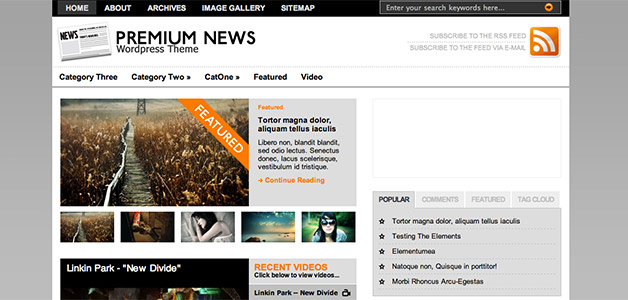 The Original Premium News Theme