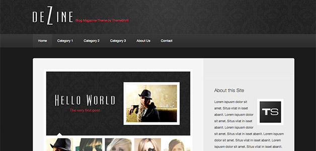 Dezine WordPress Magazine Theme