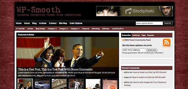 WP Smooth Mag Theme
