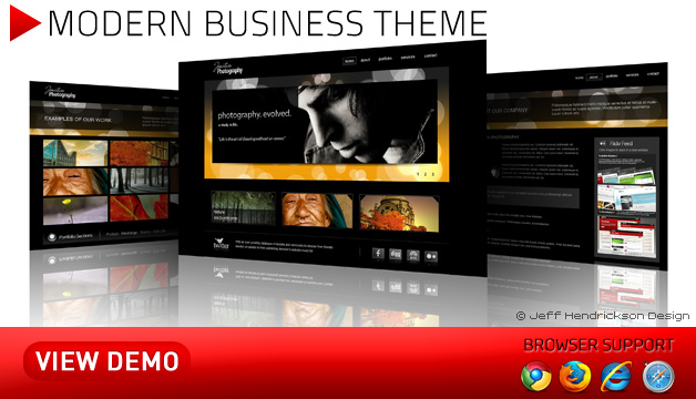 Modern Business Photography Theme