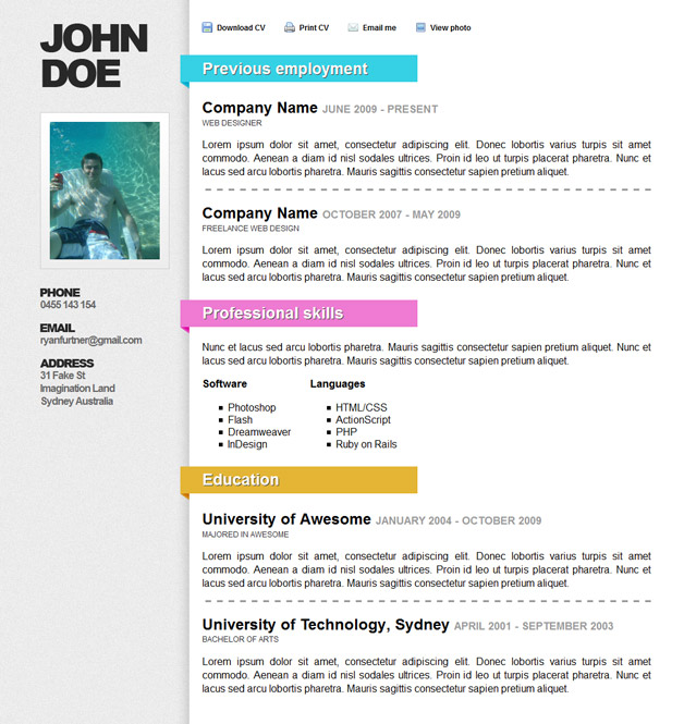 Some tips about creating a resume HTML site
