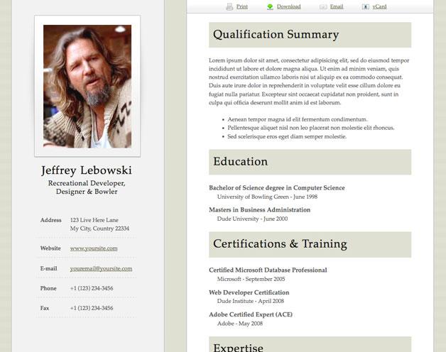 html resume templates html resume templates