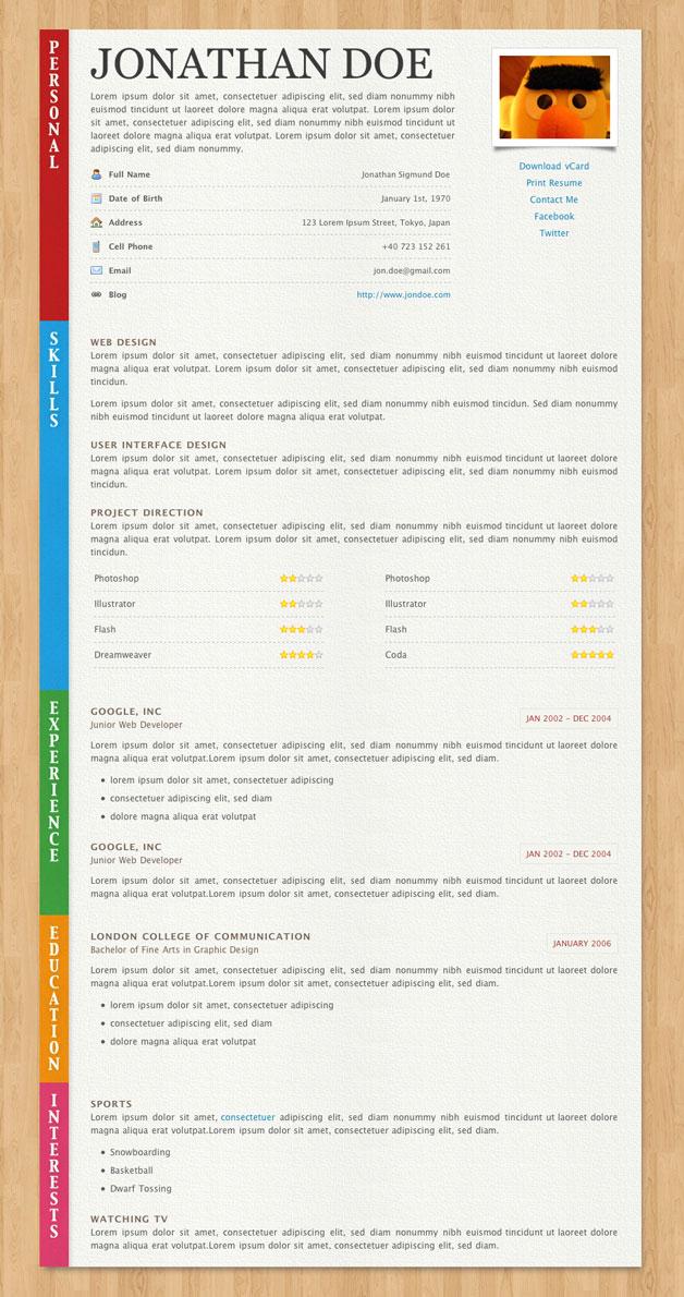 Paper Resume CV