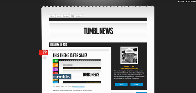 Tumbl News Theme Template