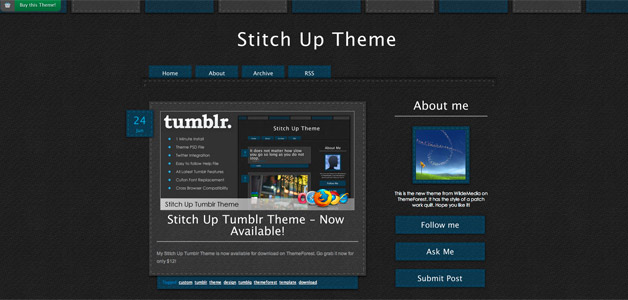 Stitch Up Tumblr Theme