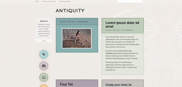 Antiquity Tumblr Theme