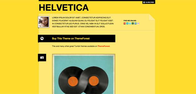 Helvetica Tumblr Theme