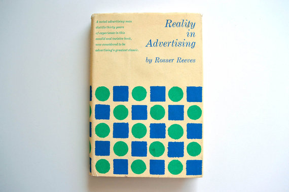 Reality in Advertising and why it's great to have an uncle who sells rare books