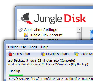 Simple, Unlmited Online Data Storage and Backups Using Amazon S3 and Jungledisk