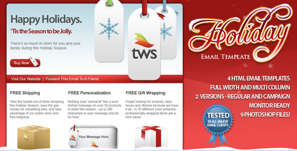 Html email newsletter templates holiday html email template spiritdancerdesigns Choice Image
