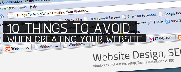 10 Things to Avoid When Creating Your Website