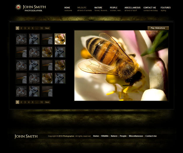 Photography Website Templates: www.jeffhendricksondesign.com/photography-website-templates