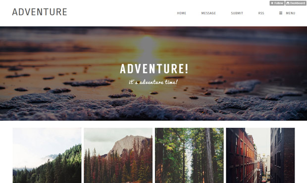 adventure tumblr theme
