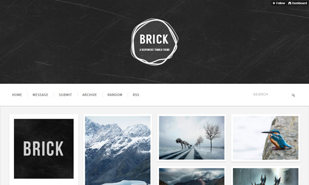 brick tumblr theme