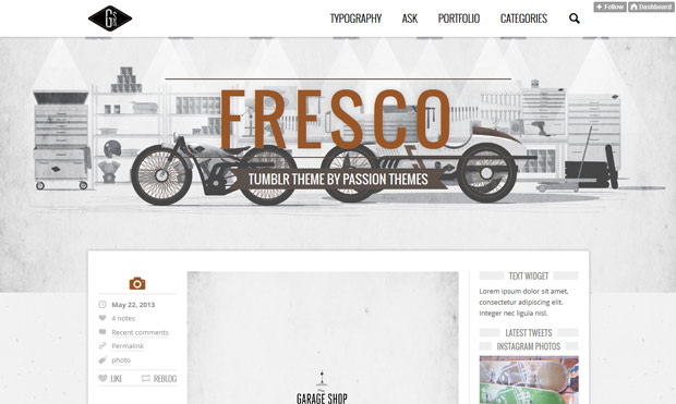 fresco tumblr theme