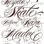 Fancy Script Lettering Tattoo