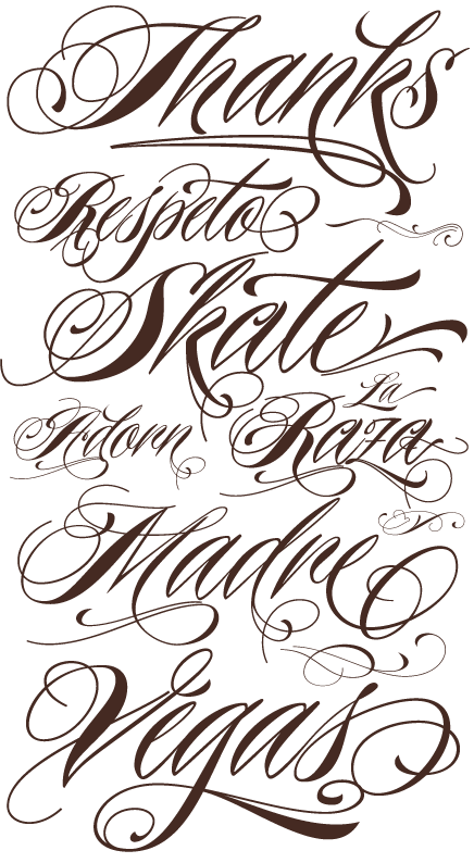 Tattoo Lettering Calligraphy