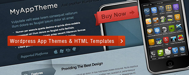 20 WordPress App Themes & Templates