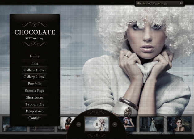 chocolate wp Photography Theme for WordPress