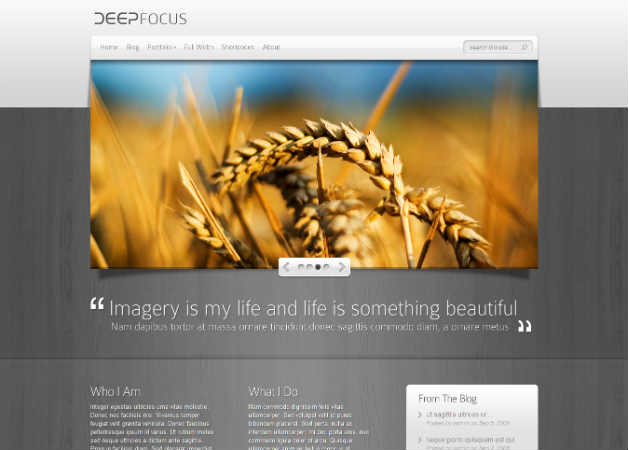 Deep Focus Photography Theme for WordPress