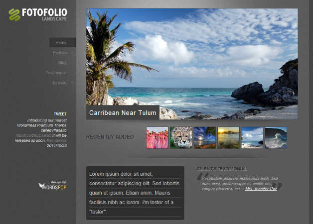 Foto Folio Photography Theme for WordPress