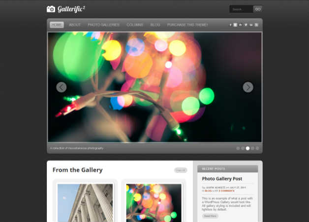 gallerific Photography Theme for WordPress