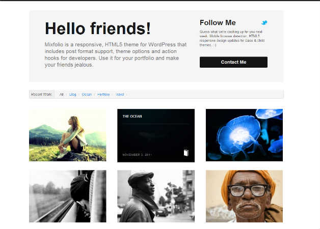 mixfolio Photography Theme for WordPress