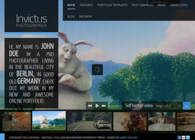 invictus Photography Theme for WordPress