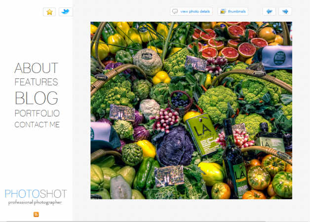 Photoshot Photography Theme for WordPress