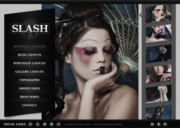Slash WP Photography Theme for WordPress