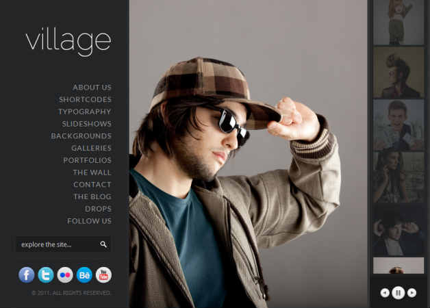 village Photography Theme for WordPress