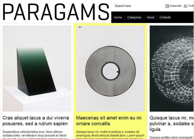 paragrams Photography Theme for WordPress