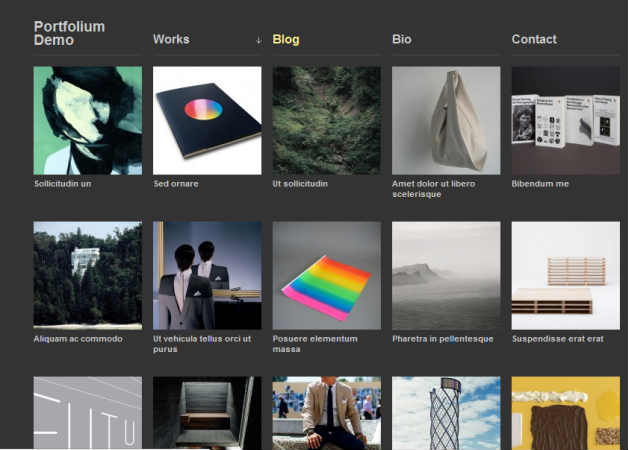 Portfolium Photography Theme for WordPress