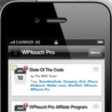 wp touch on iphone