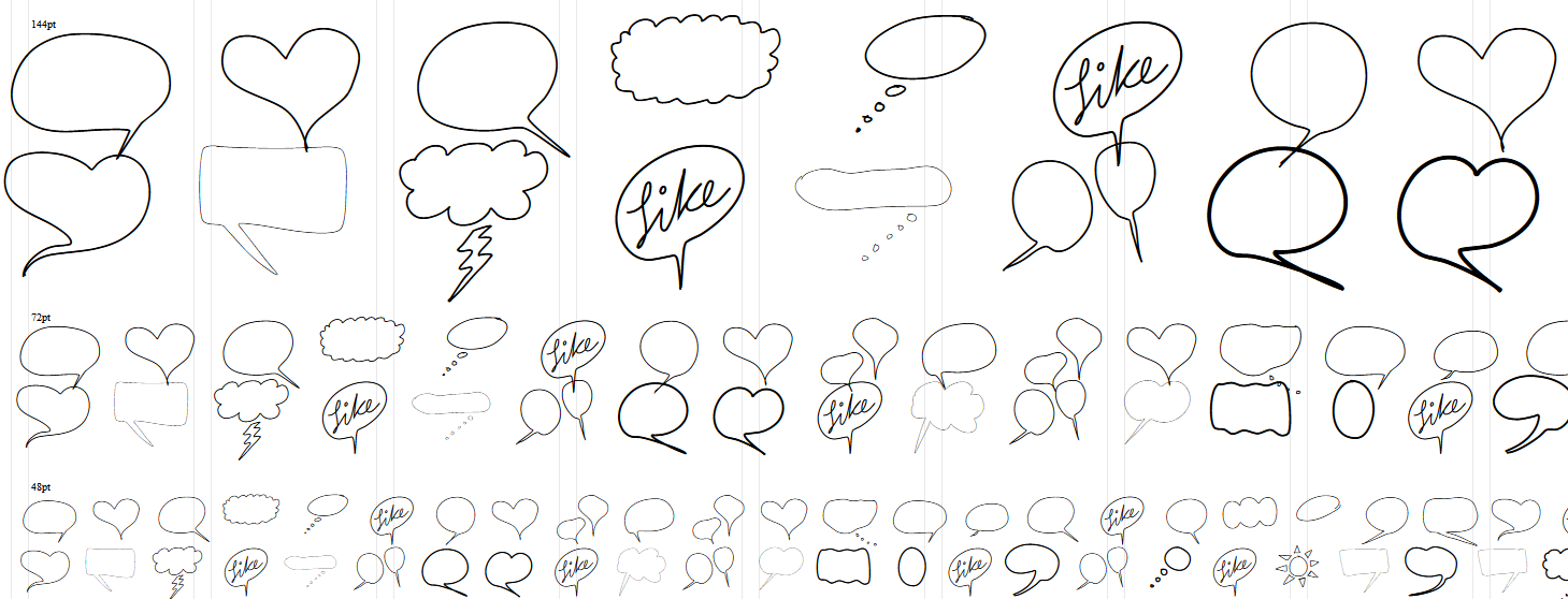 fotoblossom-fonts-Speech-Bubbles