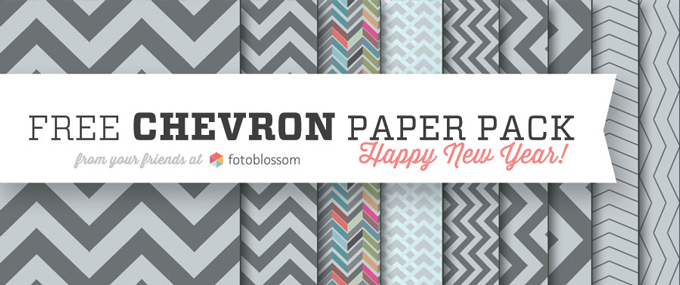 Free Hi Resolution Chevron Paper Pack