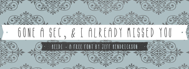 Free hand drawn fonts by Jeff Hendrickson