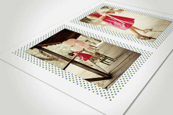 Photo Template PSD Two Photos Back