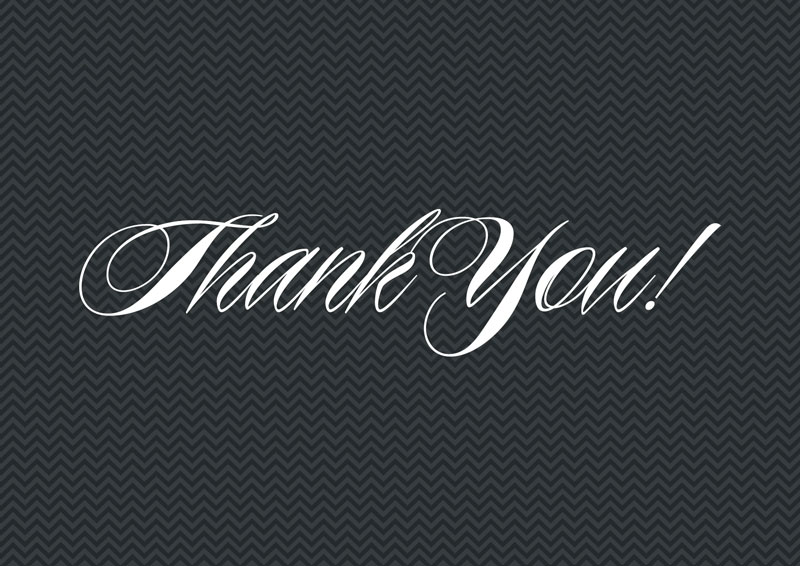 Free 7×5 Thank You Graphics – JPEGS & PSD