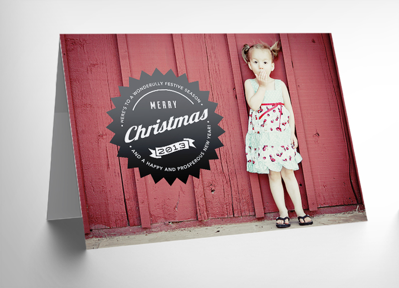 Free - 10 5x7 Holiday Photo Card Templates for Photoshop