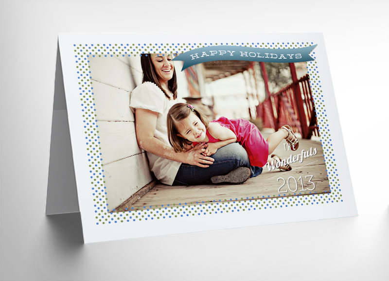 Download 10 Free 5x7 Holiday PhotoCard Templates
