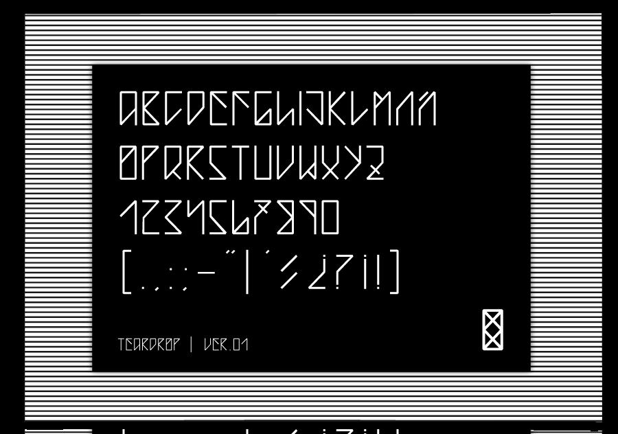 Teardrop-free-font