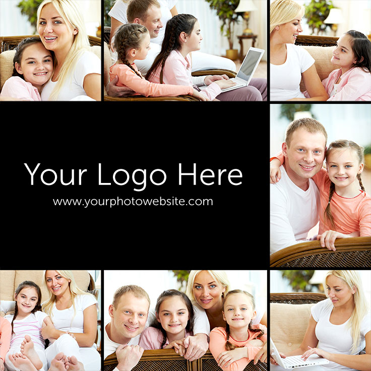7-image-with-logo-pinterest-template