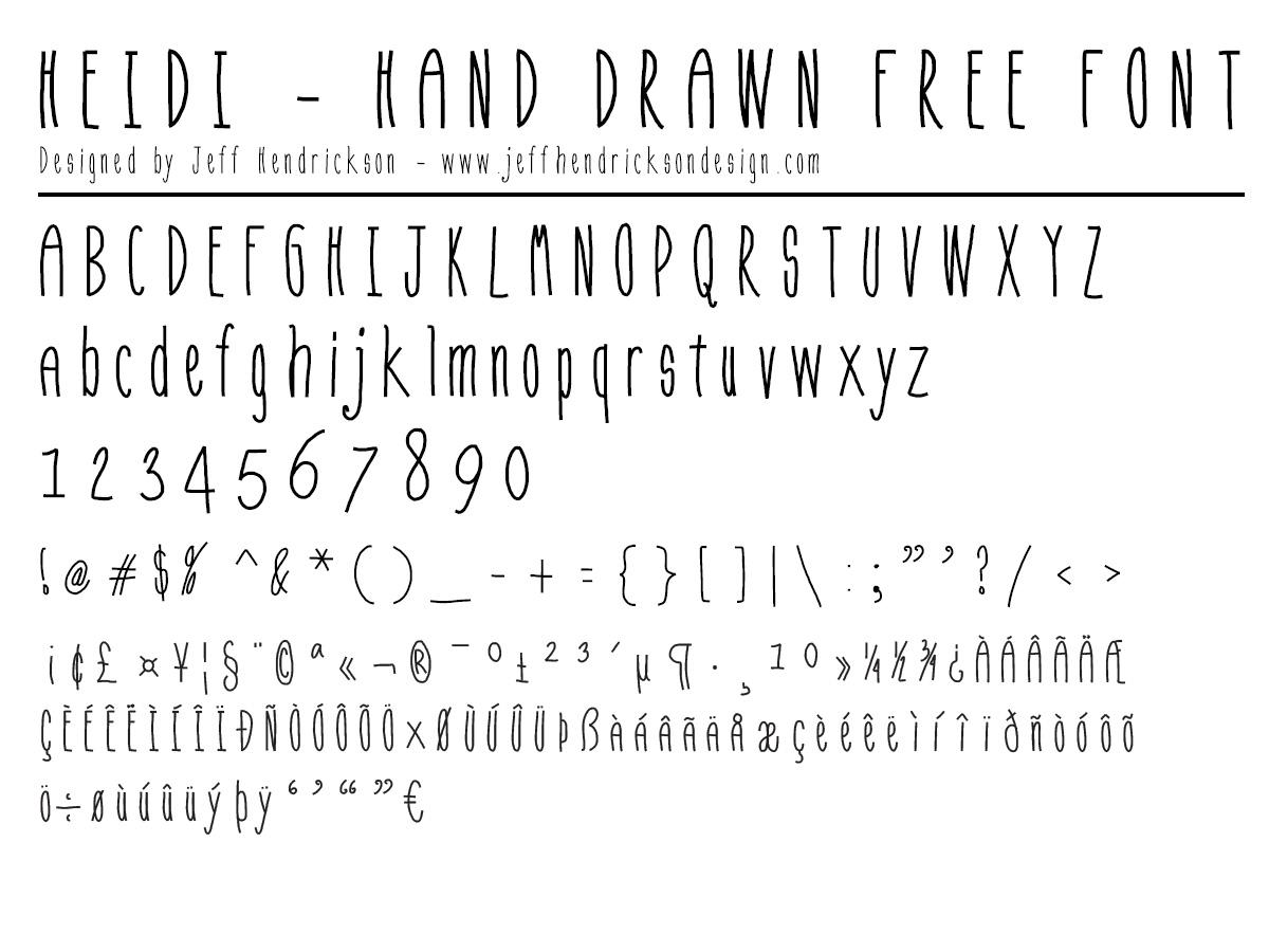 Heidi-free-hand-drawn-font