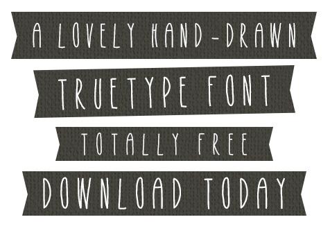 Free Hand-Drawn Font: Heidi