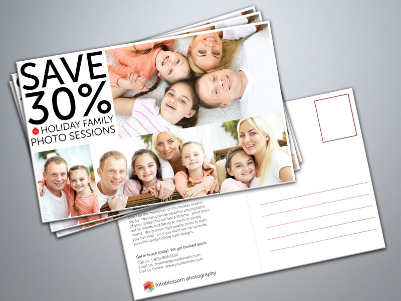 Free Postcard Templates For Photographers - Photography postcard template