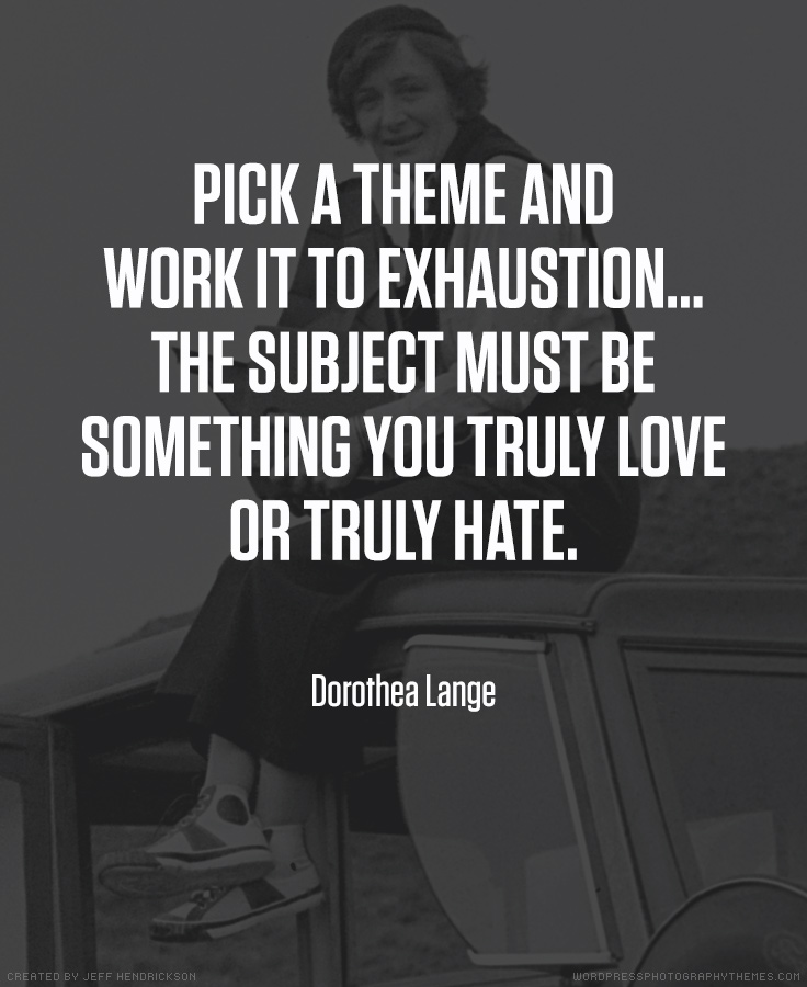 Dorothea Lange photographer quote